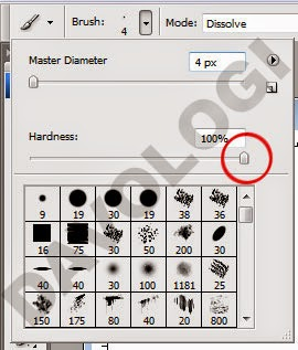 hardness cara brush photoshop