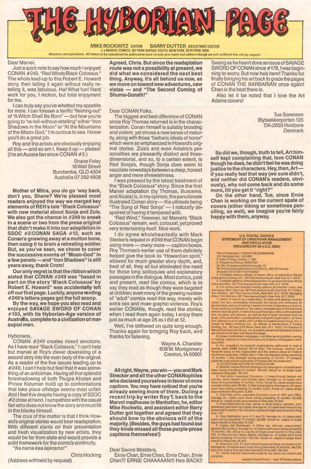 Conan the Barbarian (1970) Issue #254 #266 - English 24