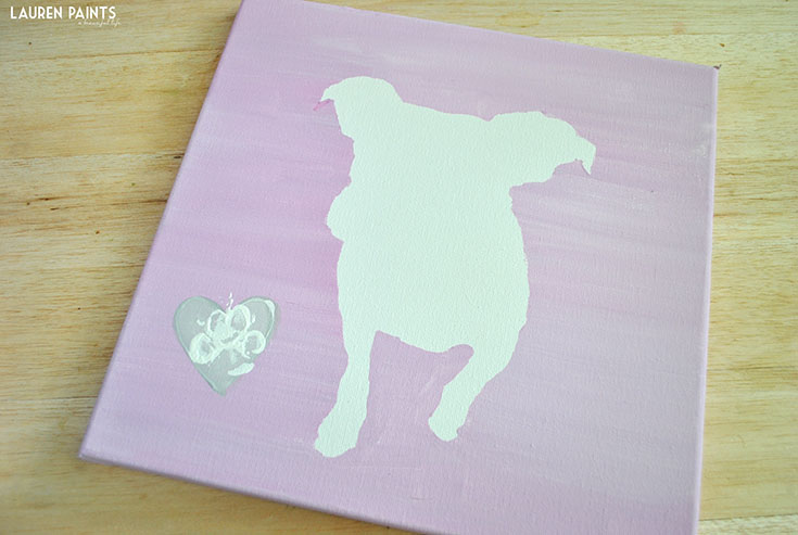 DIY Dog Silhouette Painting Tutorial