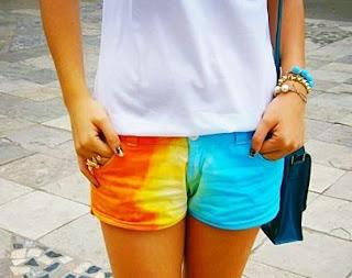 shorts multicoloridos