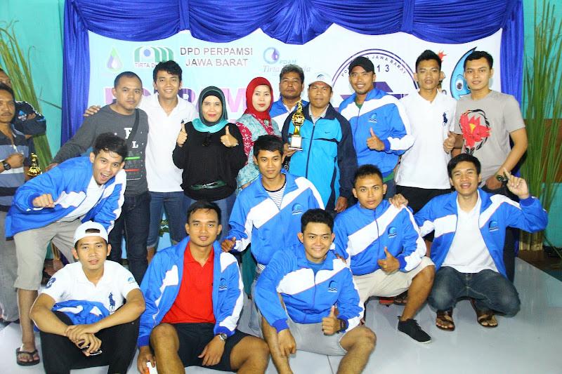 Tim PDAM Tirta Bhagasasi Bekasi akhirnya menempati posisi ke – 4 pada Pekan Olahraga Perusahaan Air Minum Daerah (PORPAMDA) Jabar ke III Tahun 2013