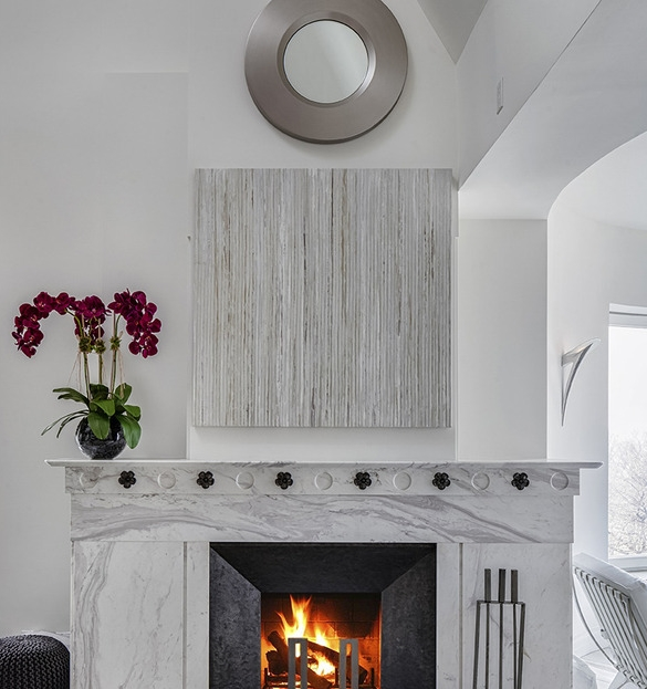 Picture of modern fireplace in the living room