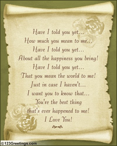 you are my world my everything poem