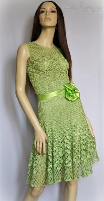 Платье крючком, схема