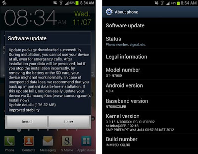 galaxy note i9220 n7000 ics 4.0.4 update