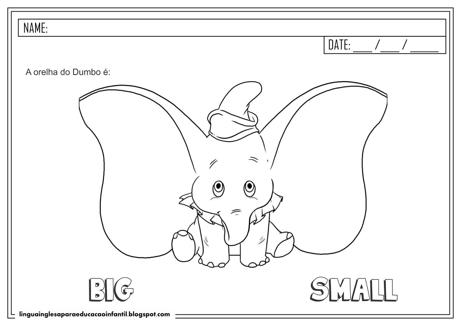 Atividade de Inglês - 'Big' e 'Small'