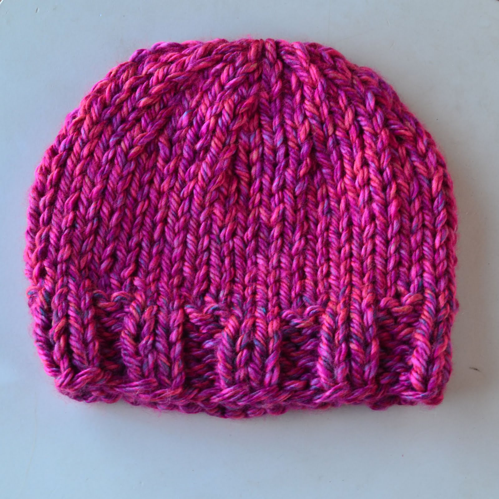 Knitting Patterns For Beanies With Straight Needles : Crochet in Color: Pretty Azalea Knitted Hat
