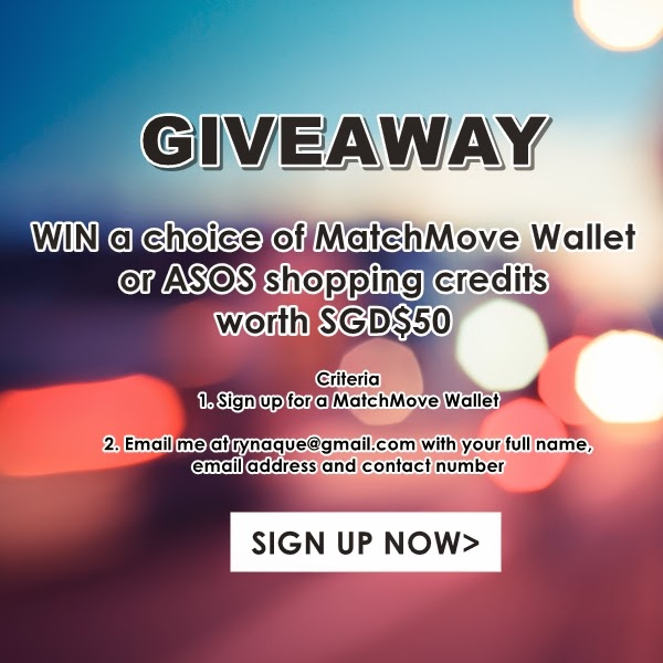 Win a choice of MatchMove Wallet or ASOS shopping credits with SGD$50