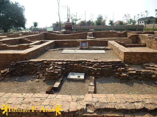 The location of the altar in Portuguese Village in Ayutthaya Historical Park
