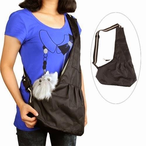 Black Pet Dog Puppy Strap Sling Shoulder Bag Carrier