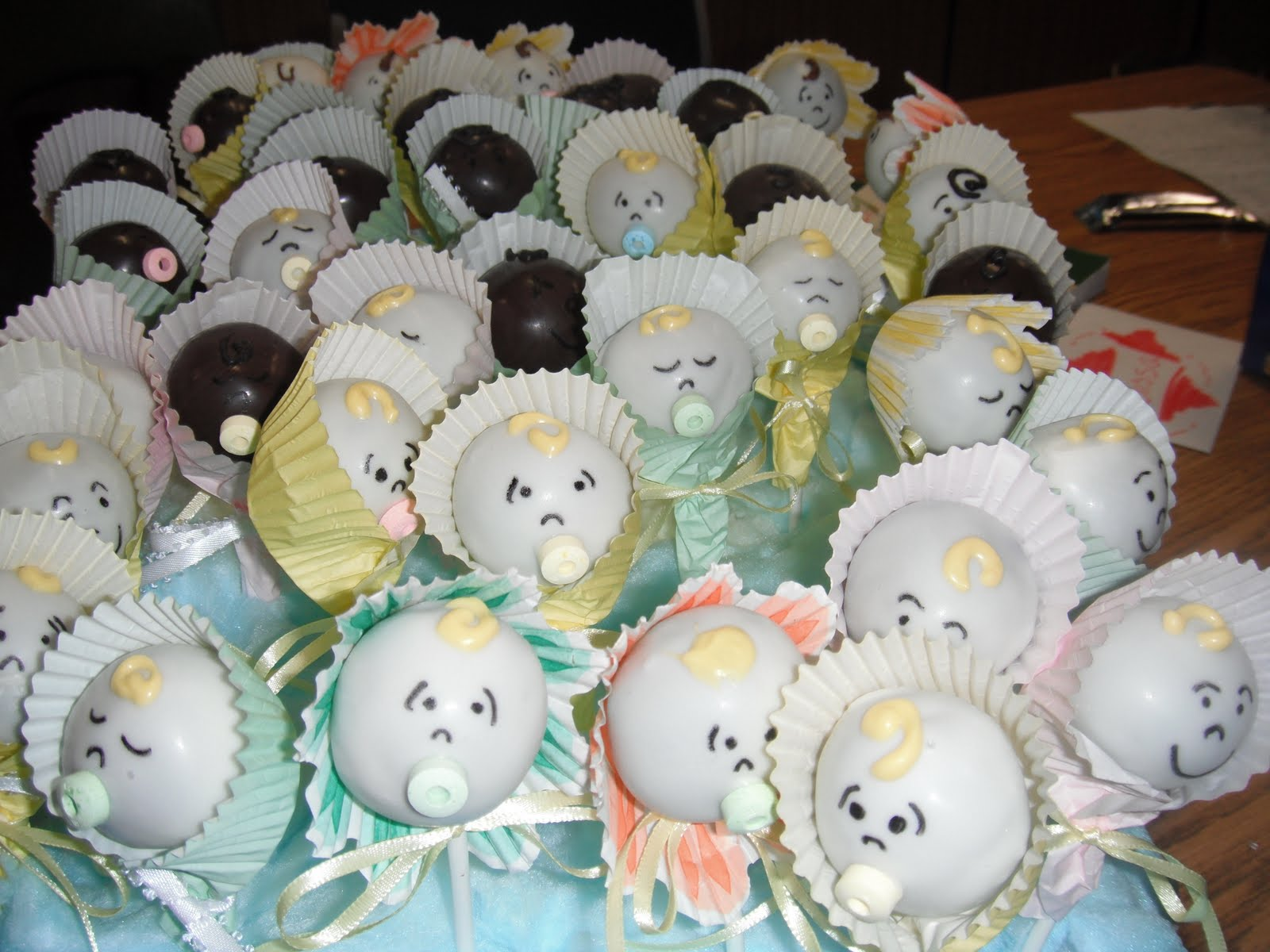 Cake Baby Shower Recipes : Mrs.4444 Cooks: Baby Shower Cake Pops