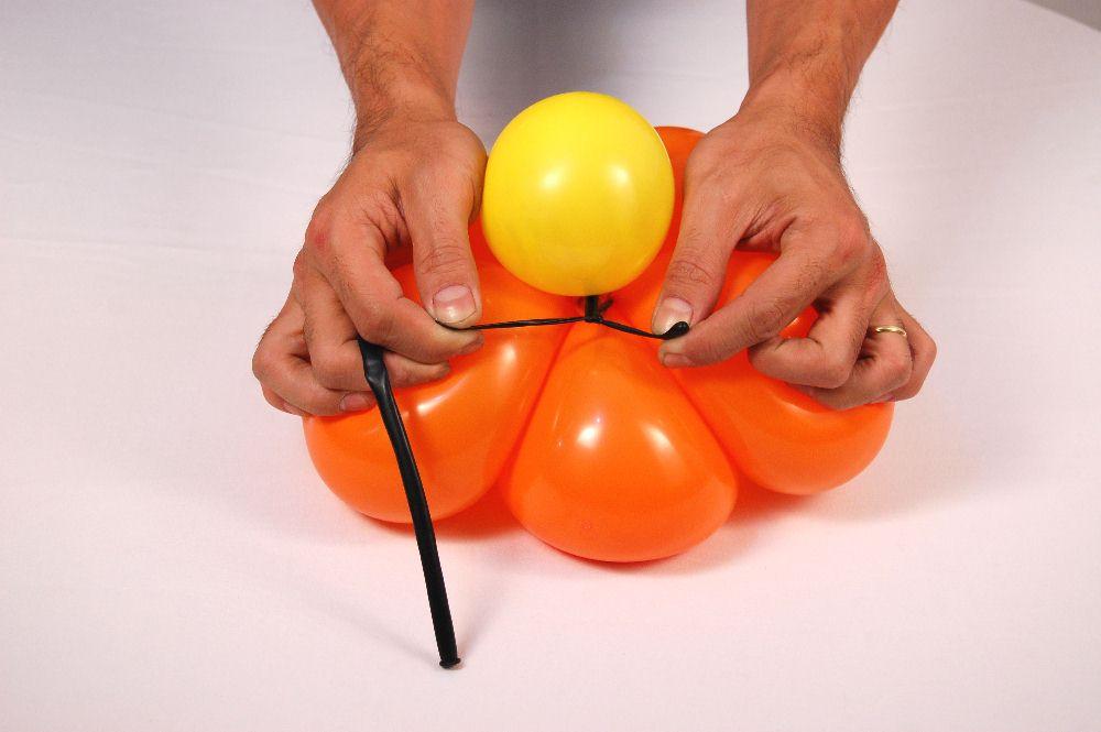 Voc u00ea faz Fácil Flor de bal u00e3o passo a passo -> Decoração Com Balões Como Fazer Passo A Passo