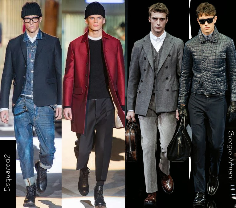 Dsquared2 and Giorgio Armani Mens Fall 2014