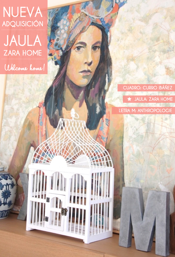 Made with lof mi nueva jaula zara home - Jaulas decorativas zara home ...