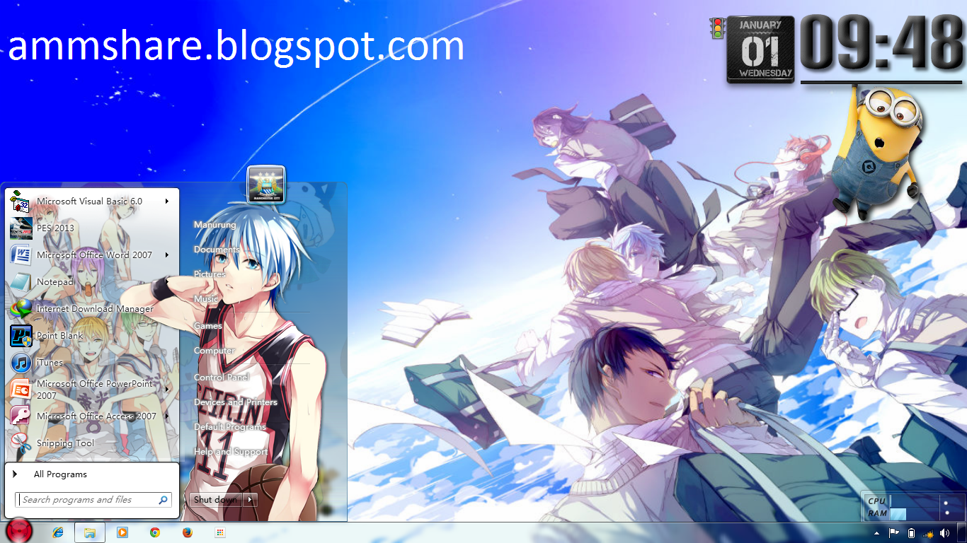 Google themes kuroko no basket - Nb Before You Download The Universal Theme Patcher Installed Click Here To Read More And Tutorial Changing The Theme Download Theme Kuroko No Basuke