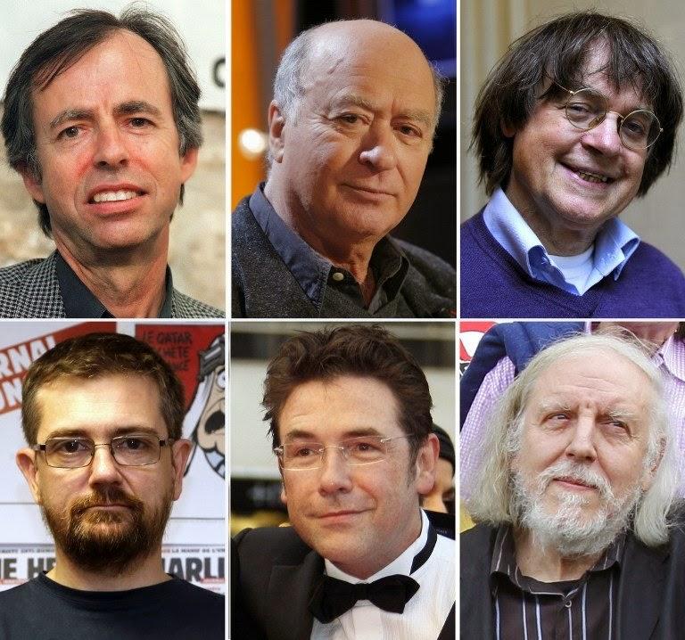 6 des 12 victimes de la tuerie du 7 janvier 2015
