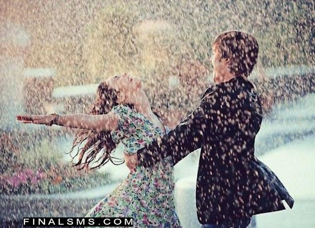 couple loving in rain rainy quotes