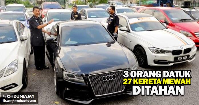 Tiga individu guna gelaran 'Datuk' bersama 27 kereta mewah ditahan