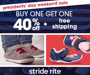 fe5f7976291 -Stride Rite  Buy one get one 40% off + free shipping with Code  PREZ40.  Valid 2 13-2 16.