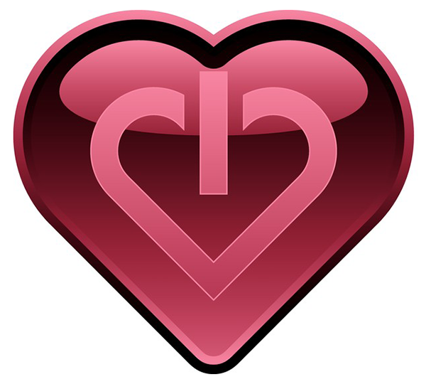 Power On/Off Heart Icon