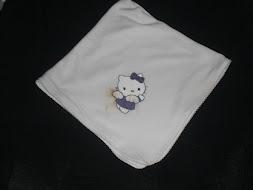 Fralda de algodão pintada à mão