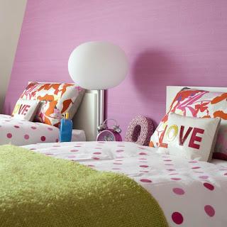 dormitorios en rosa y verde
