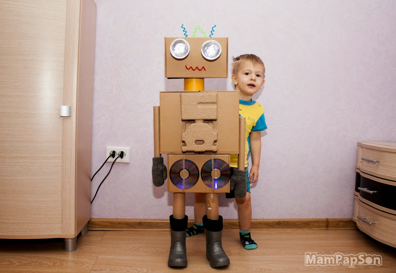 Как сделать своими руками костюм робота