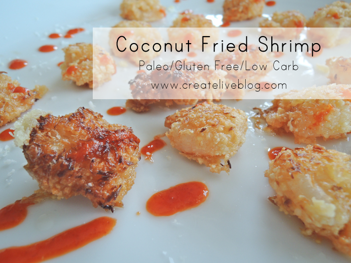 Createlive Coconut Fried Shrimp With Almond Flour And Coconut Flakes Paleo And Gluten Free