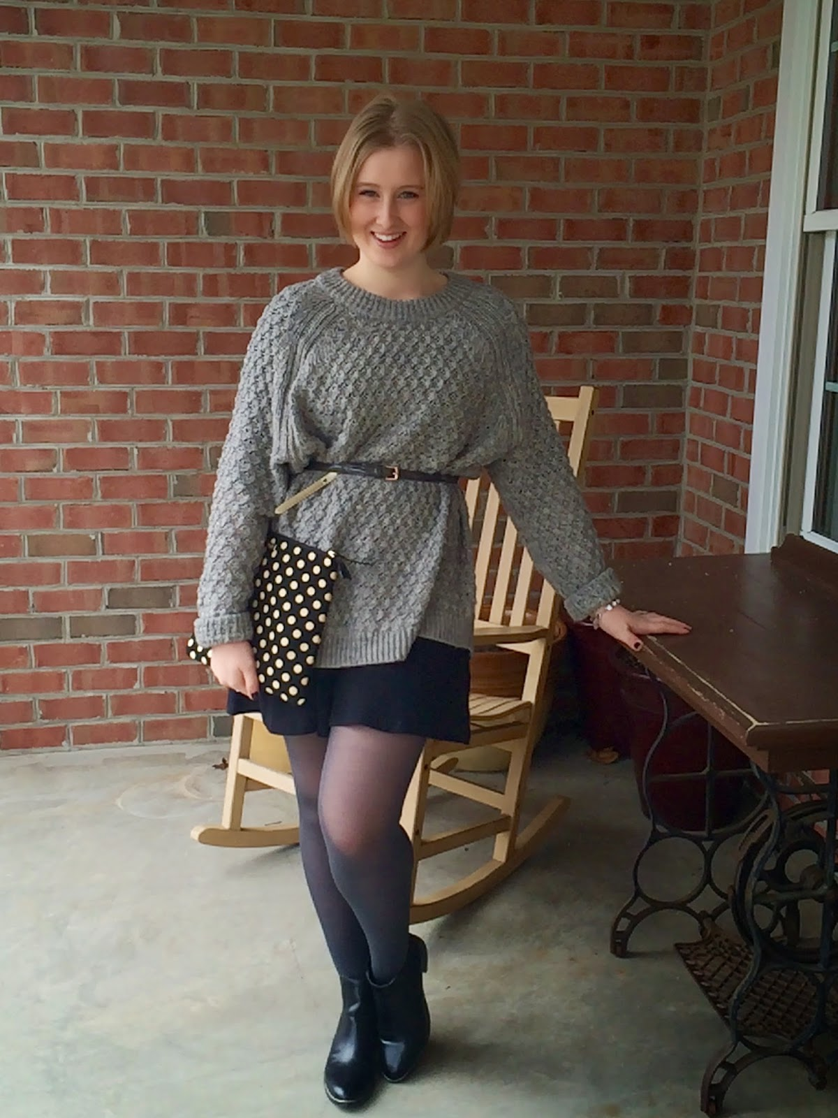 Oversized Knit and Kate Spade