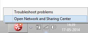 Sharing Files Through Wifi - Sharing Center