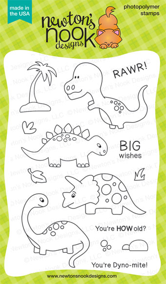 Prehistoric Pals Dinosaur Stamp set by Newton's Nook Designs