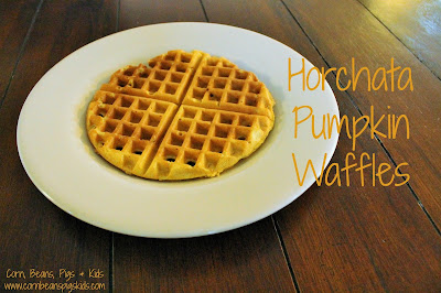 Horchata Pumpkin Waffle recipe featuring AE Dairy's new Horchata seasonal milk #AEdairy #ad