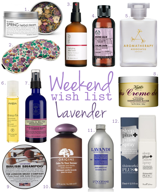 Weekend Wish List – Lavender