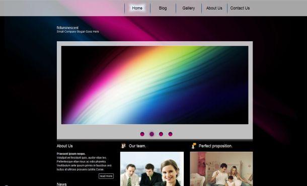 Purple Black Business CSS Website Template