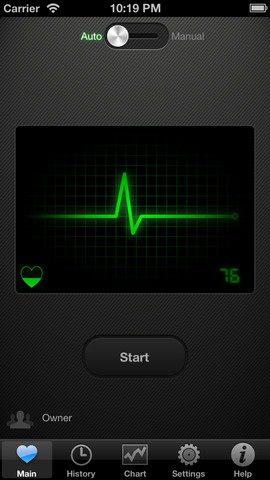 Use mobile phone camera to measures your heart rate with Cardiograph app for iOS