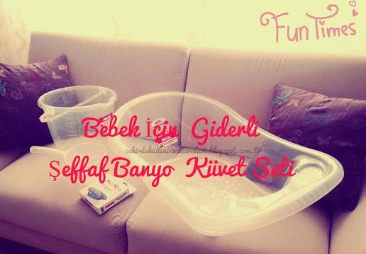 Bebek İçin Giderli Şeffaf Banyo Küvet Seti
