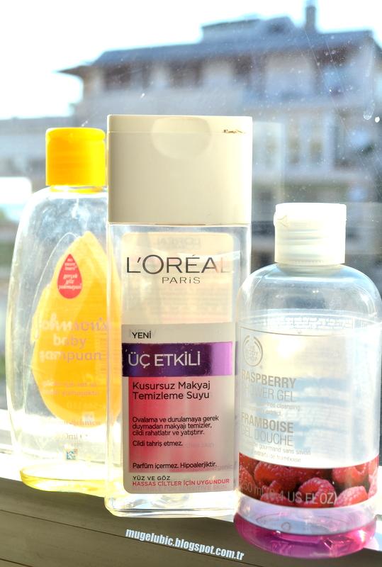 Bitenler - Johnson&Johnson's Bebek Şampuanı, L'Oreal Makyaj Temizleme Suyu, The Body Shop Frambuazlı Duş Jeli