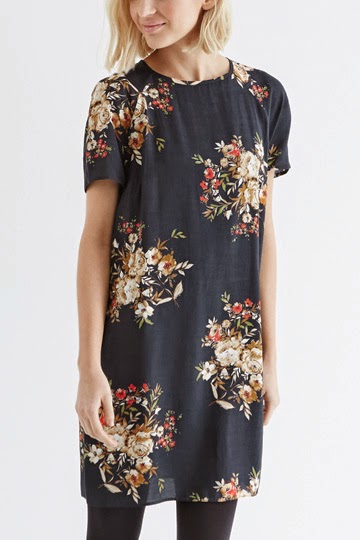 oasis navy flower dress