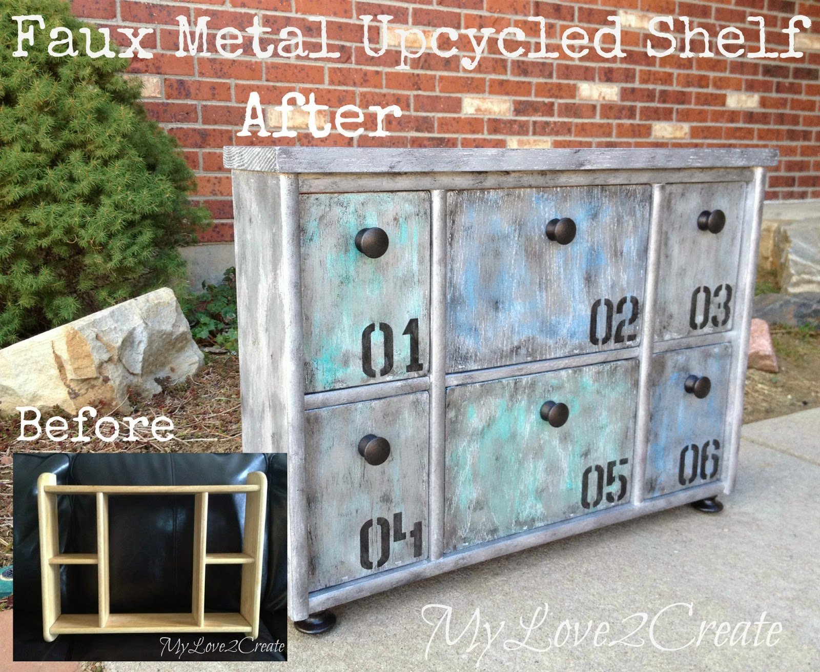 Faux Metal Upcycled Shelf