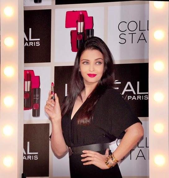 Aishwarya Rai Bachchan for L'Oreal India Red lipstick ...