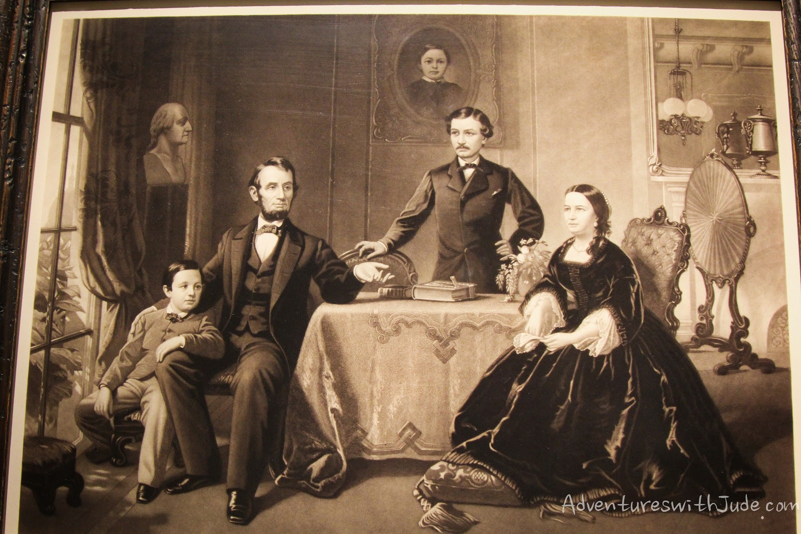 Waugh Sartain Lincoln family engraving