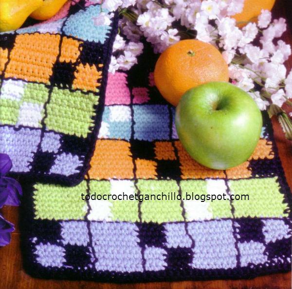 Agarradera crochet con molde del diseño