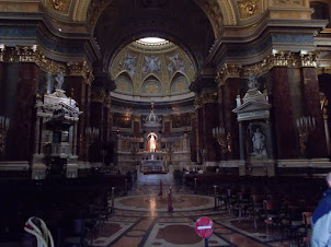 "Inside ""ST STEPHENS BASILICA"" for Sunday Mass."