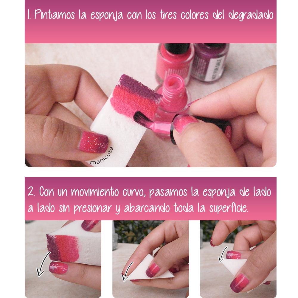 como hacer manicura degradada nail art deborah milano