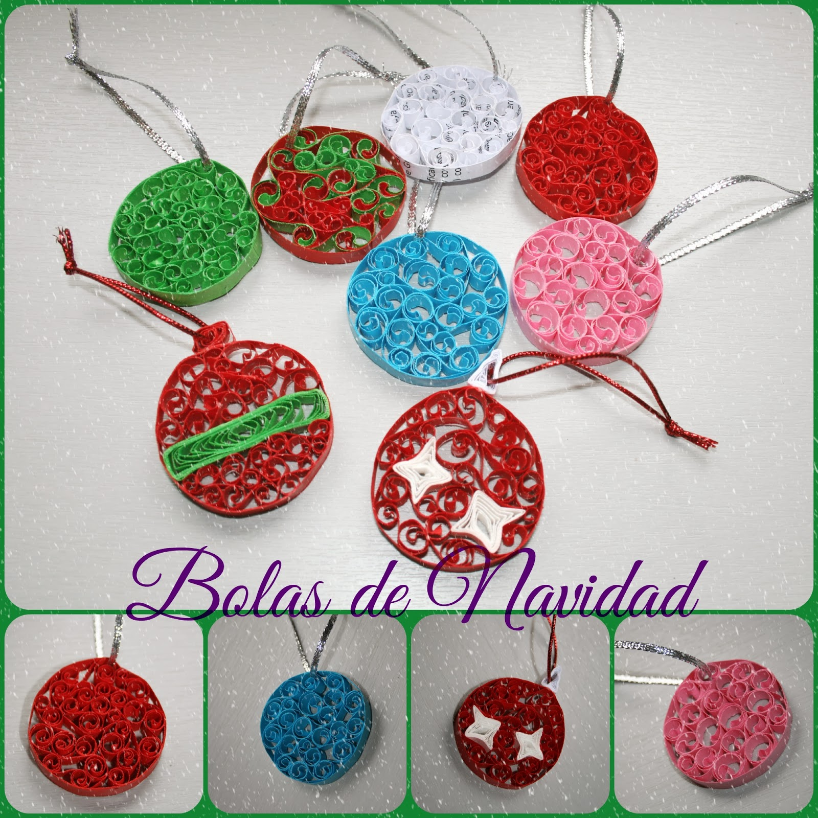 El joyero de papel merle adornos navide os bolas de navidad - Adornos de papel para navidad ...