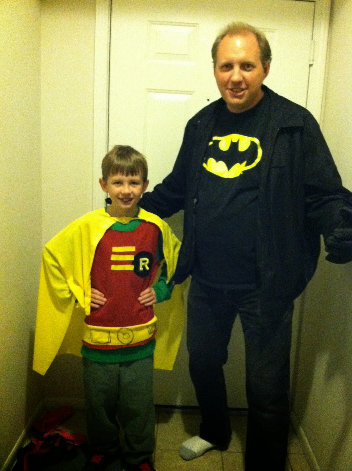 Daniel as Robin, Dad as Batman!