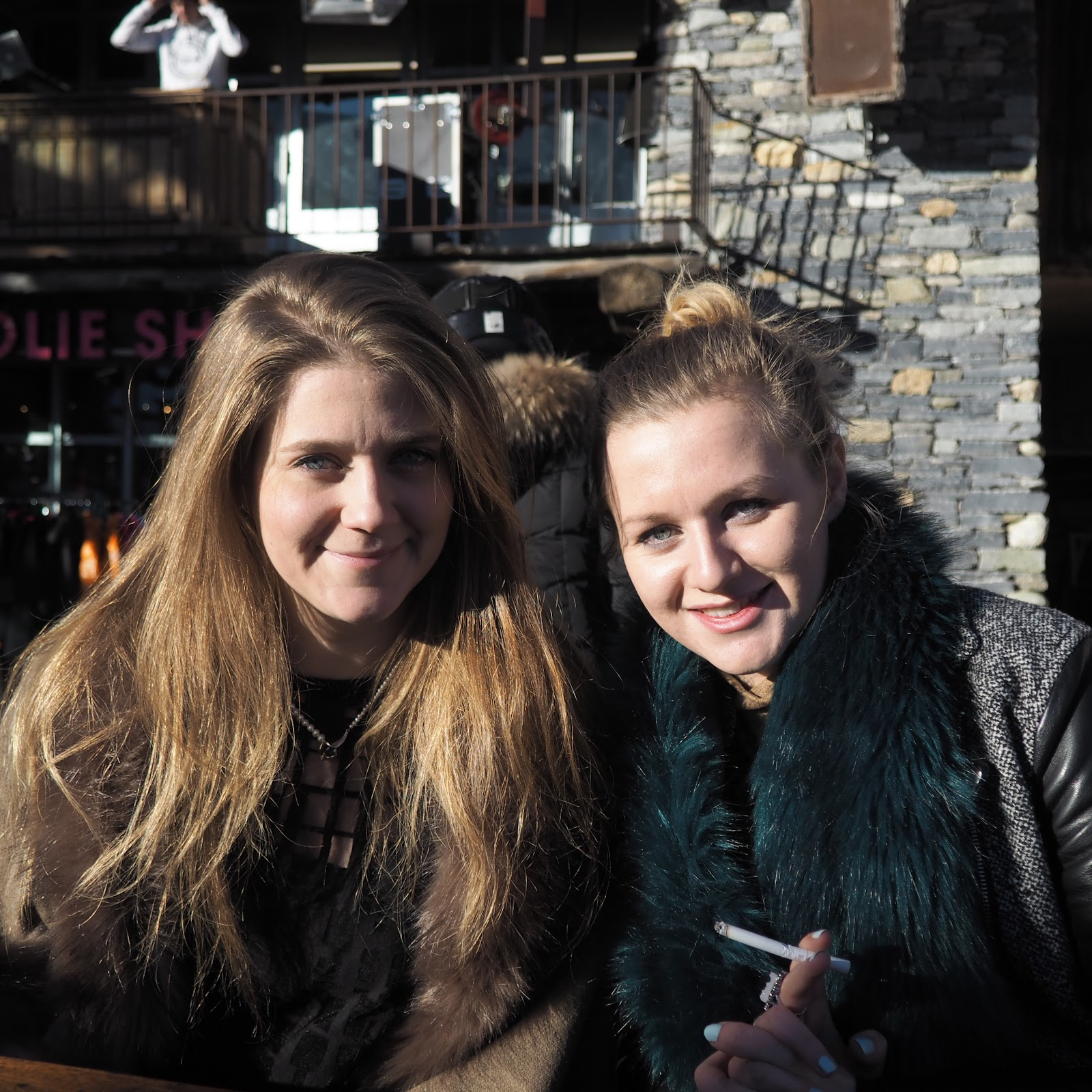Blonde girls at La Folie Douce, Val d'Isere, France