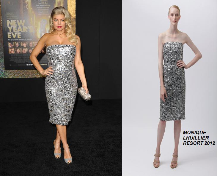 Fergie in Monique Lhuillier Resort 2012