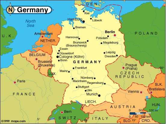 Mapas Del Mundo Mapa De Alemania Con Sus Ciudades