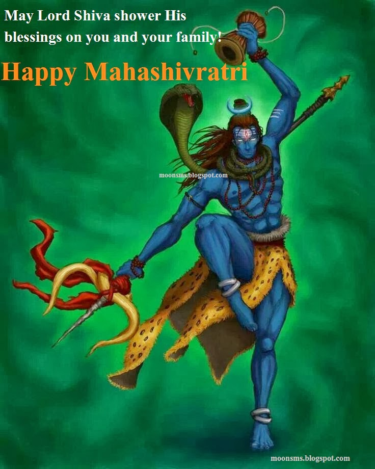 Happy mahashivratri 2014 festival sms text message wishes in english